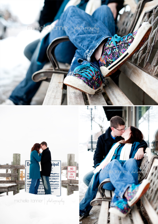 Adorable engaged couple pose for engagement pictures in Minneapolis