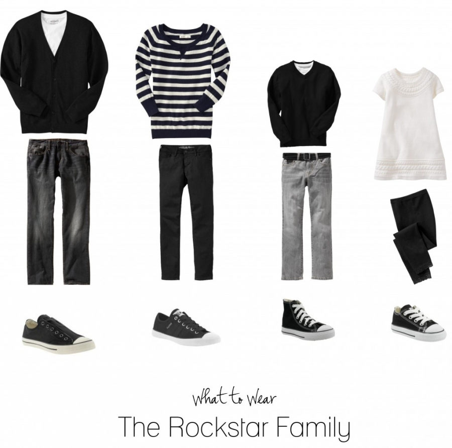 What to wear for the rockstar family