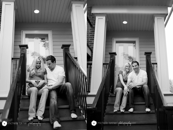 Minneapolis Maternity Photographer on Porch